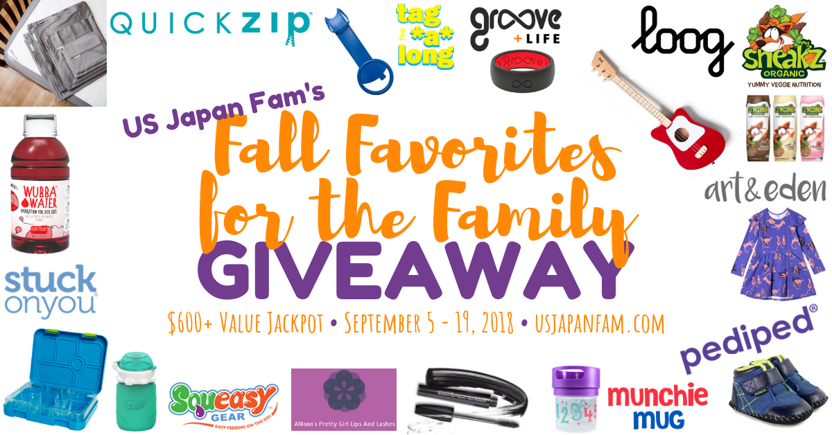 fall favorites, giveaway, us japan family, groove, tag along, blogger's giveaway